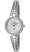 (RETIRED) Olympic Ladies IPS Plated Stone Set Watch Pearl Dial